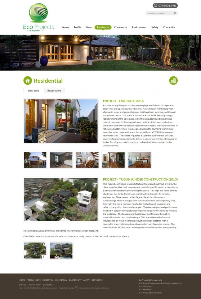 Portfolio Eco Projects Residential